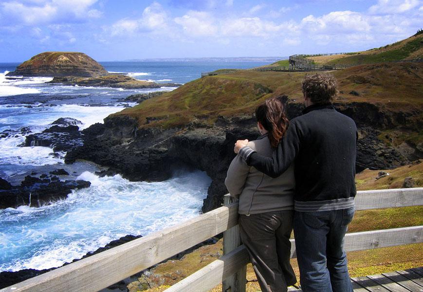 诺比司中心 诺比司角中心为游客提供与澳大利亚最大的海狮群进行亲密接触的机会。该中心的水下照相机运用最先进的防卫技术,可以在几千只海狮中进行移动摄像,拍摄它们在距离海边2公里的岩石岛上进行日光浴的景象。在这里能近距离观察嬉戏好玩的海狮,看看这些动物在岩石上沐浴阳光,给幼崽喂食,摔跤或是扑通一声跳进海里,该是多么有趣别致的一番场景。
